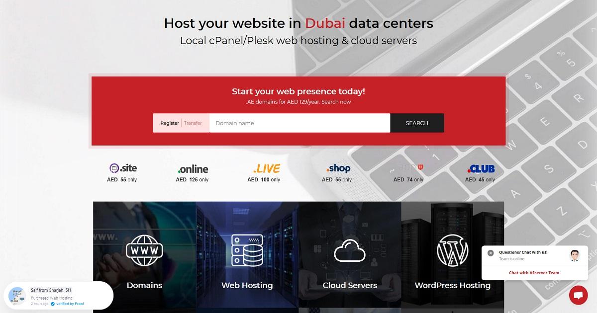 AEserver Hosting Review   Best AE Domain Register   Promo Code, Hosting Packages